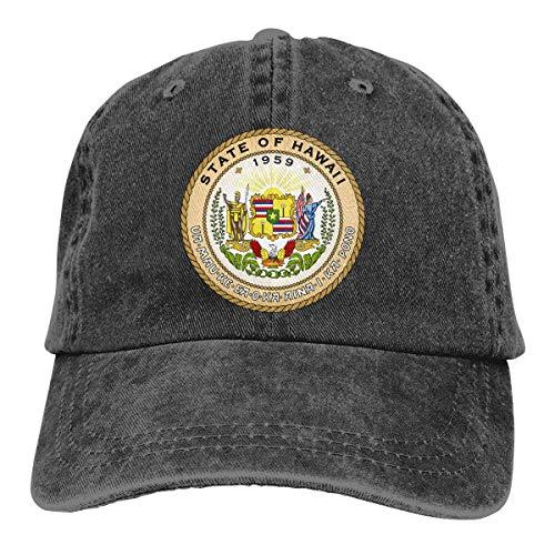 ONGH Männer Frauen Verstellbare Baumwolle Denim Baseball Cap Hawaii Emblem Golf Hüte