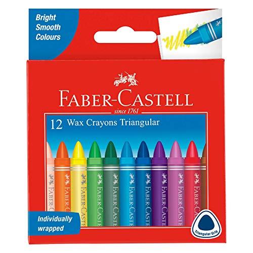 Faber-Castell 120010 - Dreikant Wachsmalstifte