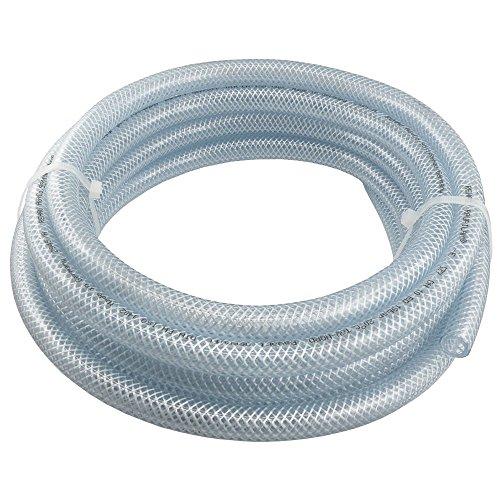 PVC-Schlauch mit Gewebeeinlage Transparent, Lebensmittelqualität, 10, 25 und 50 Meter Rolle, verschiedene Größen (Innen Ø: 13,2 mm (1/2