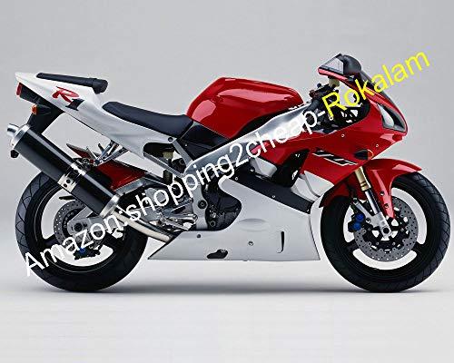 Lot de carénages rouges et blancs pour 98 99 YZF R1 1000 1998 1999 YZF-R1 YZFR1 YZF1000