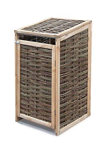 Weidenprofi Mülltonnenverkleidung, Mülltonnenbox aus Weide, bis 240 Liter Mülltonnen (LxBxH): 70 x 80 x 113-118 cm