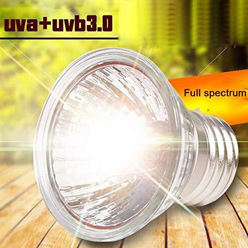 Steve_Eden_TM Habitat-Beleuchtung – UVA+UVB 3.0 Reptilienlampe Schildkröte Basking UV-Leuchtmittel Heizlampe Amphibien Eidechsen Temperaturregler