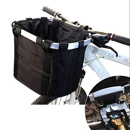 ZMXZMQ Fiets Carrier Bike Basket Bag, Opvouwbare Afneembare Huisdier Hond Reizen Fietsmandje, Snelle release Gemakkelijk te installeren Afneembare Fietstas, zwart