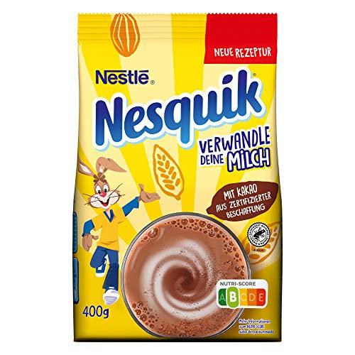 Nestlé NESQUIK, kakaohaltiges Getränkepulver zum Einrühren in Milch, mit Vitamin-Mix, Großpackung für Schoko-Fans, 1er Pack (1 x 400g)