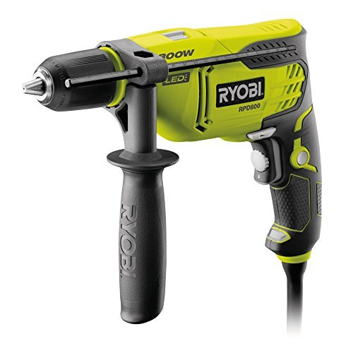 Best Price Square Hammer Drill, Percussion, 800W RPD800-K by RYOBI