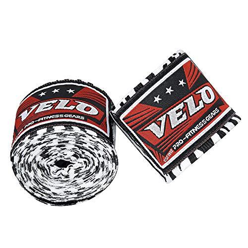 Velo Boxbandagen / Handbandagen, 4,5 Handschuhe, Muay Thai, MMA, mexikanisches Stretch, Zebra