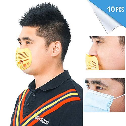 MXXQQ 10PCS 3D Face Protect Bracket, Bequeme Atmung Waschbar Lippenstift Schutz Kühle Msak...