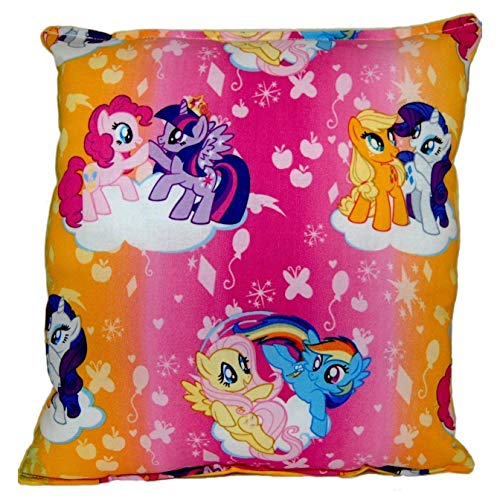 My Little Pony Pillow MLP Bright Pillow All Our Pillows Are Handmade Hypoallergenic Cotton with Flannel Backing Ideal for Gift and Multiple Uses