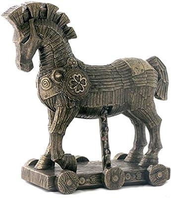 10.75 Inch The Greek Trojan Horse Cold Cast Bronze Sculpture Figurine