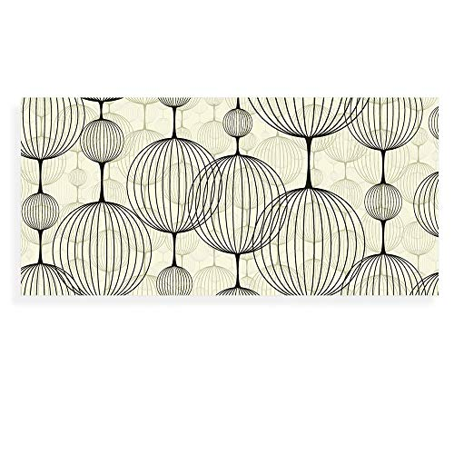 Banjado Wechselscheibe für IKEA GYLLEN Wandlampe | Glasscheibe für Wandleuchte 56x26cm | Echtglas Motiv Lampions | Querformat