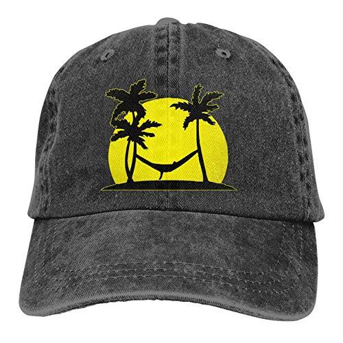 Gorra De Béisbol Unisex Hammock In Paradise-3 (Hamaca En El Paraíso-3) Classic Baseball Cap Hat Ajustable Gorra De Náutica Idea Classic BB Cap Protección Solar UV Baseball Cap