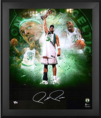 Paul Pierce Boston Celtics Framed Autographed 20'' x 24'' In Focus Photograph - Autographed NBA Photos