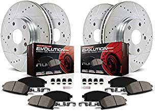 Power Stop K899 Front & Rear Brake Kit with Drilled/Slotted Brake Rotors and Z23 Evolution Ceramic Brake Pads