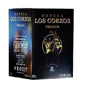 Bag in Box 15L Vino Tinto PREMIUM (Equivalente a 20 Botellas de 750 ml) vino tinto con grifo y asa incorporada con la máxima calidad y uvas seleccionadas Bodega Los Corzos
