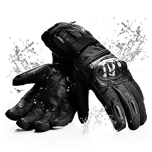 Luckyx Männer Frauen Winter Akku Beheizte Handschuhe Digitalanzeige Elektrische Hitze Handschuhe Kit, Sport Im Freien Thermische Isolierende Handschuhe, Touchscreen Klettern Wandern Skifahren
