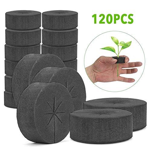 libelyef 30/60/120 Packung Hydroponik Schwämme, Grow Hydroponic Plant Disk Aeroponic Premium Neopreneinsätze Für Netzgefäße Und Kloniermaschinen - Für 2 Zoll Netzgefäße