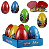 Galerie Spiderman and Avengers Embossed Jumbo Eggs with Ferrera Pan Candies, 16.8 Ounce