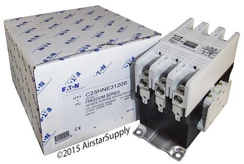 Eaton / Cutler Hammer C25HNE3120B Contactor , 3-Pole , 120 Amp , 240 VAC Coil Voltage