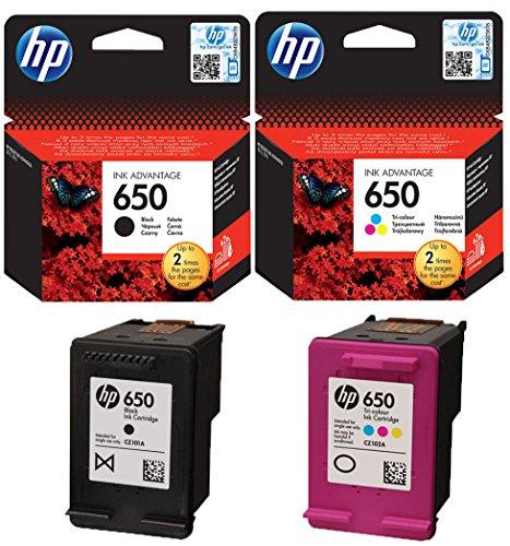 HP 650Original Tintenpatronen in Schwarz und Farbe