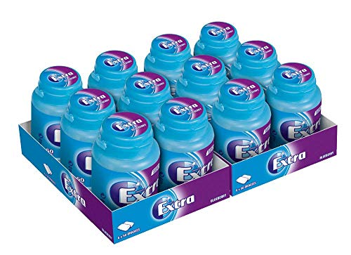 Extra Kaugummi   Blueberry   Zuckerfrei   12 Dosen (12 x 50 Dragees)