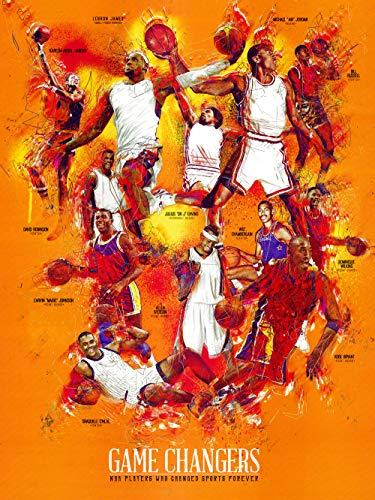 777 Tri-Seven - Póster de baloncesto de baloncesto con historia de deportes negros (45,7 x 61 cm), multicolor (T7BPBSHWAPAA1824)
