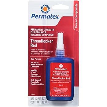 Permatex 26240 Permanent Strength Threadlocker Red 36 ml Bottle