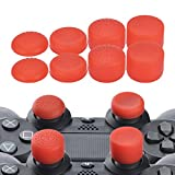 YoRHa Professional Thumb Grips Thumbstick Joystick Cap Cover (red) Extra High 8 Units Pack for PS4, Switch PRO, PS3, Xbox 360, Wii U Tablet, PS2 Dualshock 4 Controller