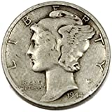 1944 P Mercury Winged Liberty Dime Fair Details