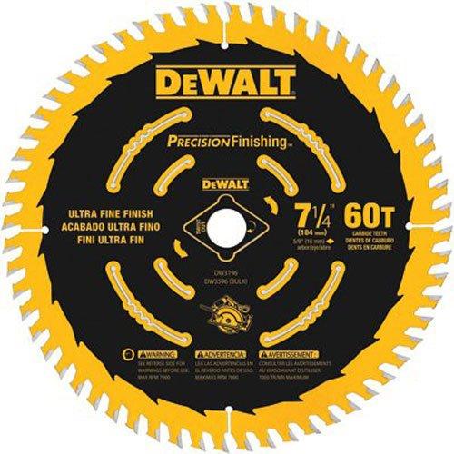 """DEWALT 7-1/4"""" Circular Saw Blade, Precision Finishing, 60-Tooth"""