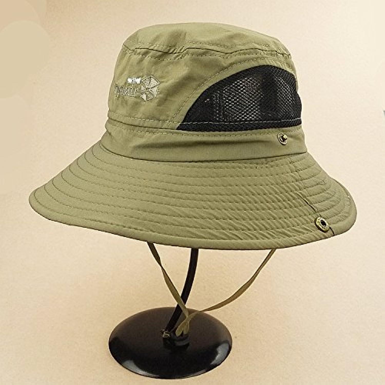Mocase Outdoor Large Round Brim Bucket Hat Quick Drying Men Women Summer Sun Cap Sun Block Hat for Fishing Travel Mountain Climbing