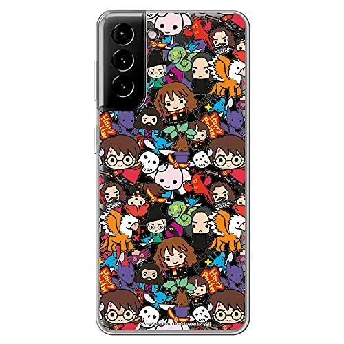 Movilshop Funda para [ Samsung Galaxy S21 Plus / S21 + 5G ] Harry Potter Oficial [Charms Mix] Warner de Silicona Flexible Transparente Carcasa Case Cover Gel para Smartphone.