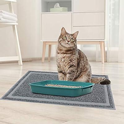 PET PRIME DIRECT Cat Litter Mat Litter Trapping Non-slip Cat litter mat Litter Box Mat with Scatter Control - Soft on Kitty Paws 60 X 35.5 CM