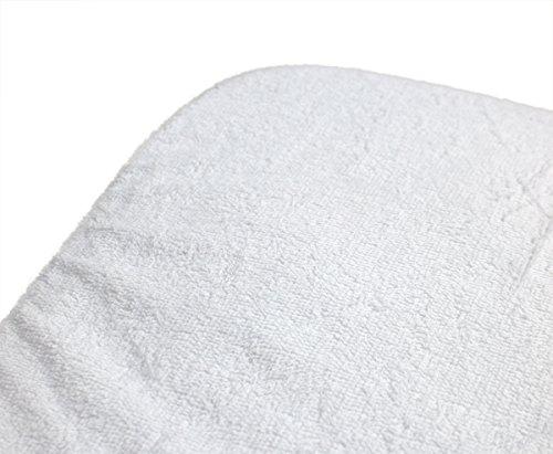 ObboMed MC-5601 ObboMed MC-5601 Sábana Terry de Algodón para Incontinencia Premium, Impermeable, Lavable, Reutilizable e Hipoalergénica, Funda Protectora de Colchón y Cojín - Blanca (Individual: 100 x 200 cm/ 39 × 78 pulgadas)