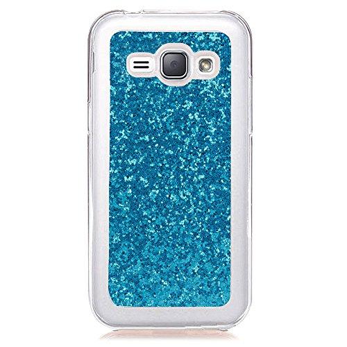 FNBK Kompatibel mit Samsung Galaxy J1 2016/ J120 Hülle, Glitzer TPU Silikon Handyhülle Ultra Dünn Stoßfest Handyhülle Schutzhülle für Samsung Galaxy J1 2016/ J120 Case, Blau