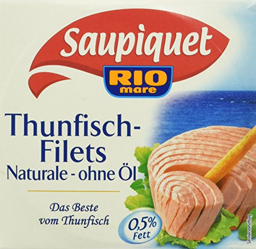 Saupiquet Thunfisch - filet Naturale ohne Öl, 16er Pack (16 x 185 g)