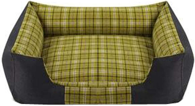 Detachable Medium House Pet Mat Stylish Rectangle Pet Bed Pet House Kennel Pet Supplies, H
