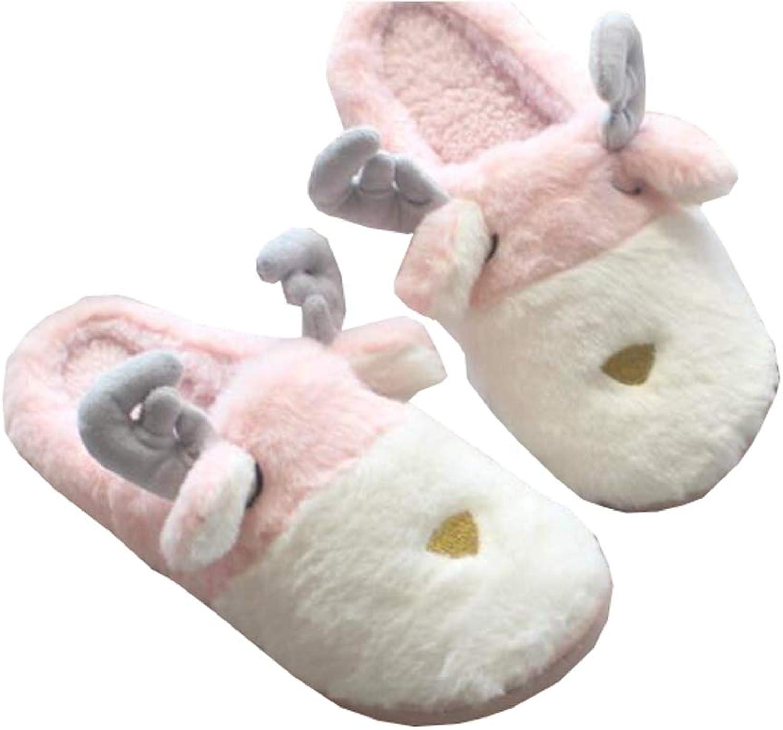 Christmas Slippers Women Non Slip Fuzzy Winter Slipper Memory Foam Slipper (A)