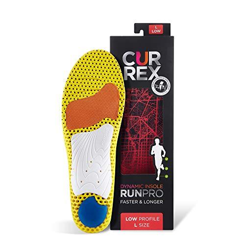 CURREX RunPro Sohle – Entdecke Deine Einlage für eine neue Dimension des Laufens, Dynamische Einlegesohle, Rot- Low Profile Gr.- EU 44.5-46.5/ XL