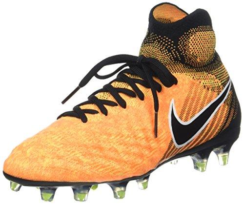 Nike Unisex Magista Obra II DF FG Fußballschuhe, Orange (Laser Orange/Black-White-Volt), 36.5 EU