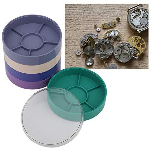 5 lagige Uhrenteile Aufbewahrungsbox Uhrwerkzeuge Aufbewahrungsbehälter Schraube Komponentenbewegung Hardware Teile Uhrwerksteile(01)
