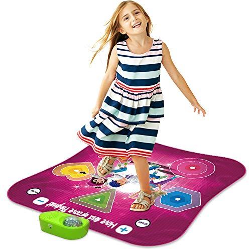Tragbare Spielt Tanzen Challenge-Rhythm & Beat Playmat Für Musik Lernen Und Unterhaltung, Light Up Tanzmatte Für Kleinkinder Und Kinder,B