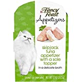 Purina Fancy Feast Grain Free Wet Cat Food Complement, Appetizers Tuna With a Sole Topper ...