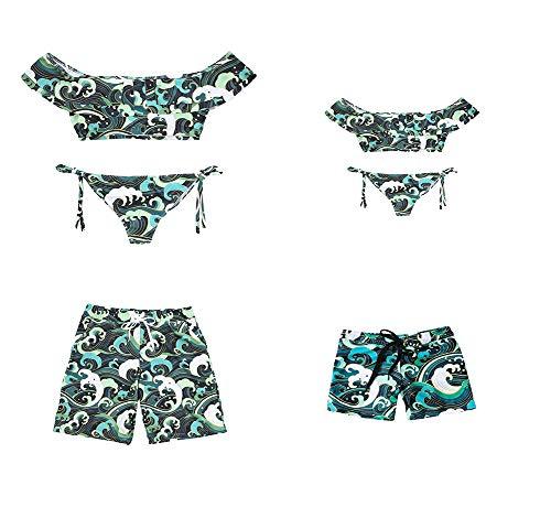 Madre e Hija Bikinis Traje de baño, Mamá bebé Bañadores de Mujer de Verano Playa, Conjunto de Bikini de Baño Niñas Traje de Baño (Niño, 2T)