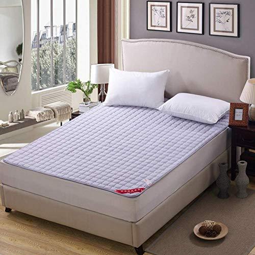 MKXF Cojín Lavable de la protección del futón para los huéspedes del sofá Que acampan, Topper Antideslizante Ultrafino del colchón