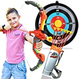 Toytykes Bow and Arrow Archery Set Materials - Equipped with Attractive Lights - Cultivate Hands-Eye Coordination of The Kids - Ultimate Fun for Kids - Perfect for Indoor or Outdoor