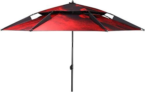 ZHUSAN Parapluie De Pêche Universel écran Solaire Extérieure Pare-Soleil Surdimensionné Double Noir Parasol De Mode pour Jardin Plage Boutique Camping
