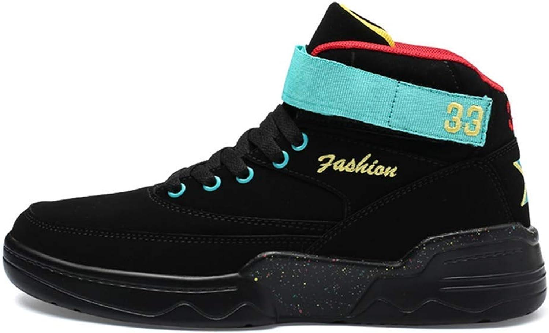 ZHRUI Men Sport shoes Official Original Classic Air High Retro Basketball Sneakers (color   Black, Size   11=46 EU)