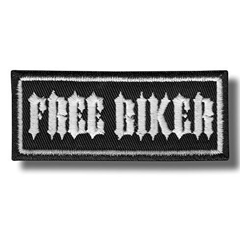 Free biker - bordado parche 9 x 4 cm