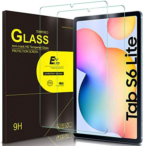 ELTD 2Pack Screen Protector for Samsung Galaxy Tab S6 lite 10 4 inch HD Tempered Glass Easy product image