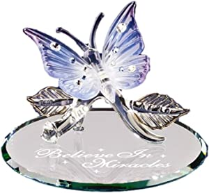 Butterfly Believe in Miracles Glass Figurine